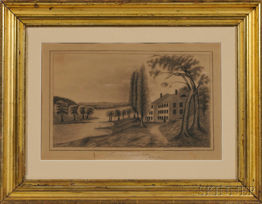 American School, 19th Century      View of Schenectady New York