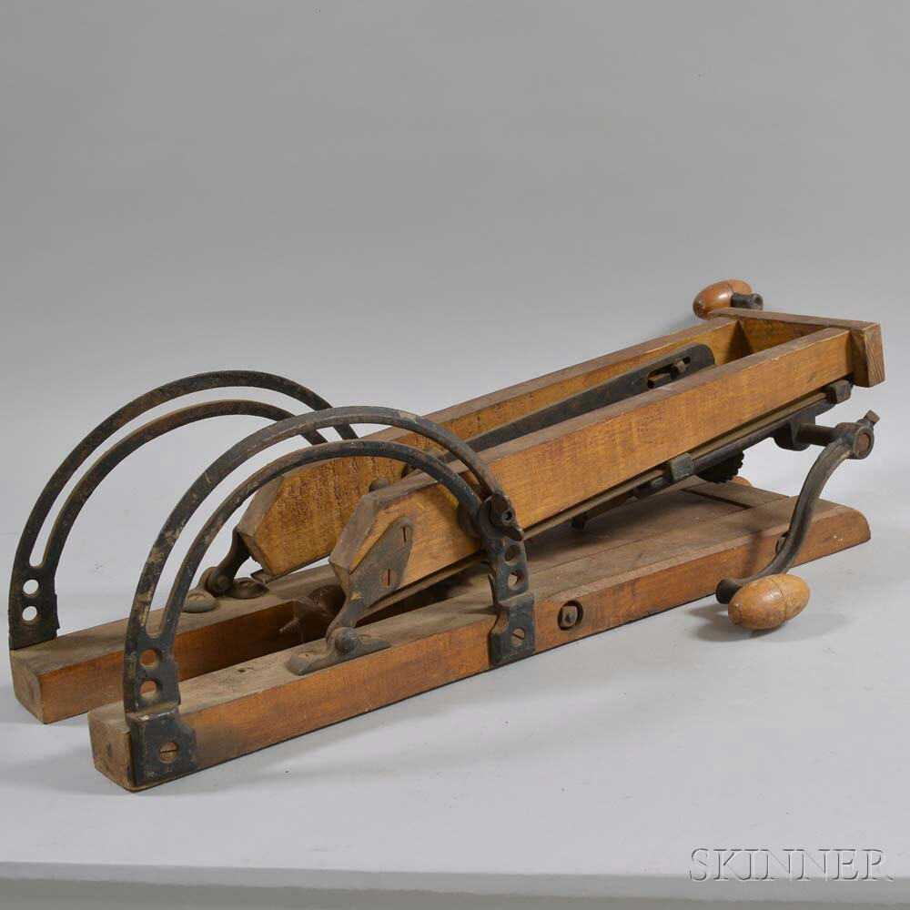 Maple and Iron Hand-crank Drill Press