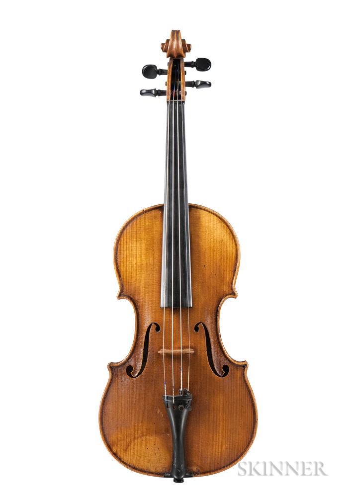 German Violin, Josef Kreuzinger, Schönbach, 1916