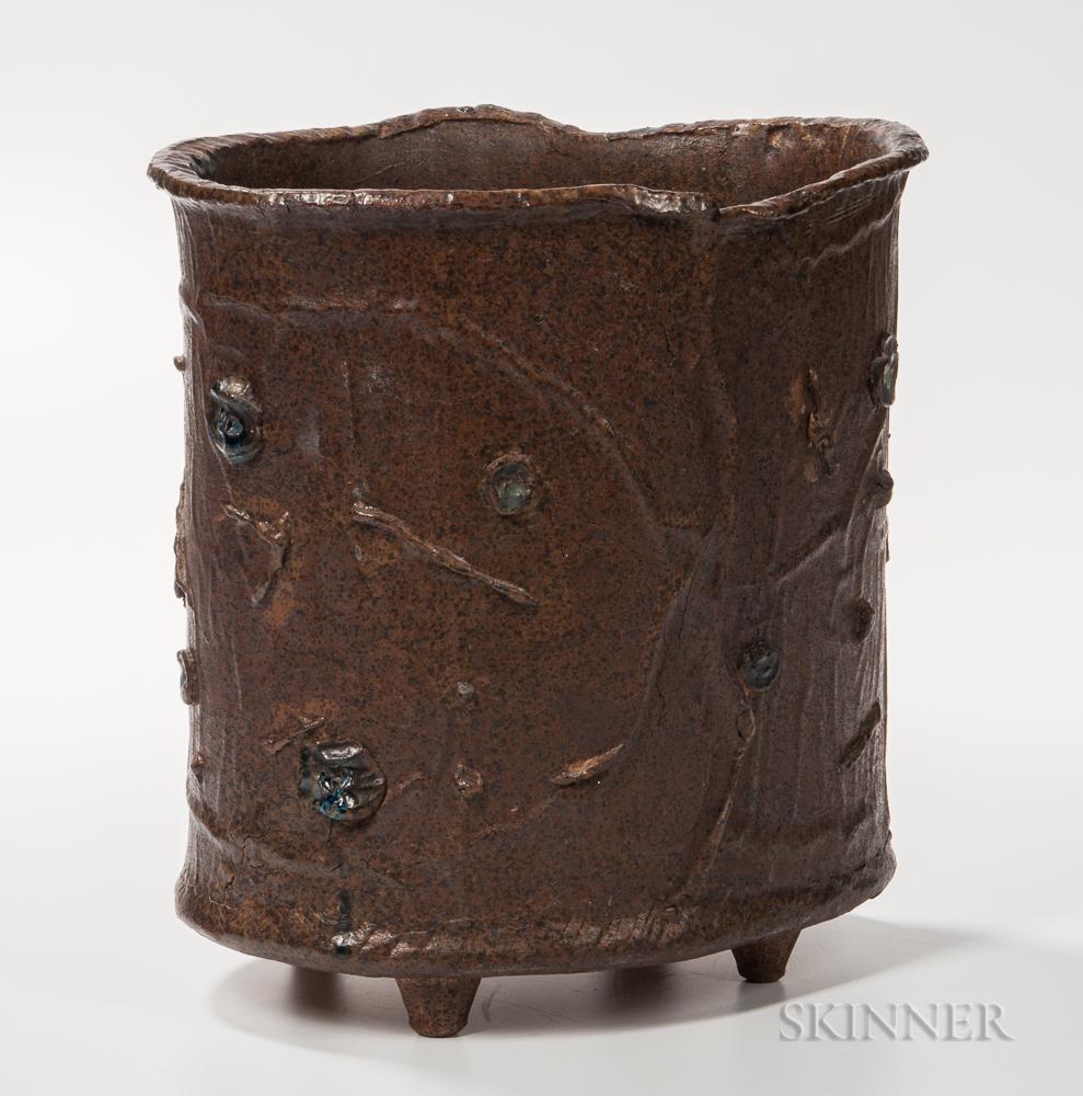 William Wyman (1922-1980) Art Pottery Wastebasket
