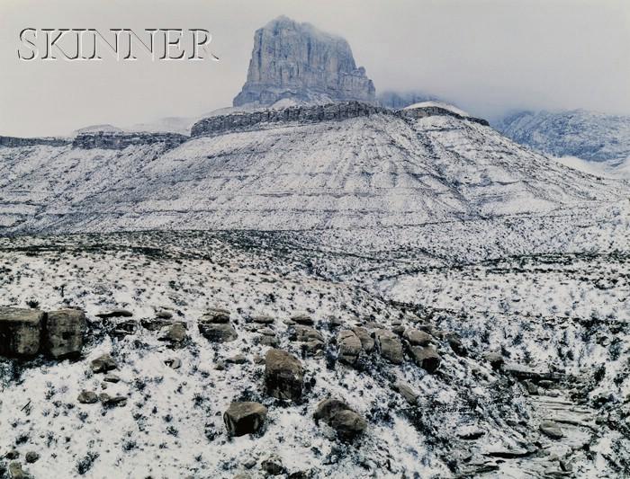 James Clinton Bones (American, b. 1943)      Blizzard Around El Capitan at Guadalupe Pass, Texas
