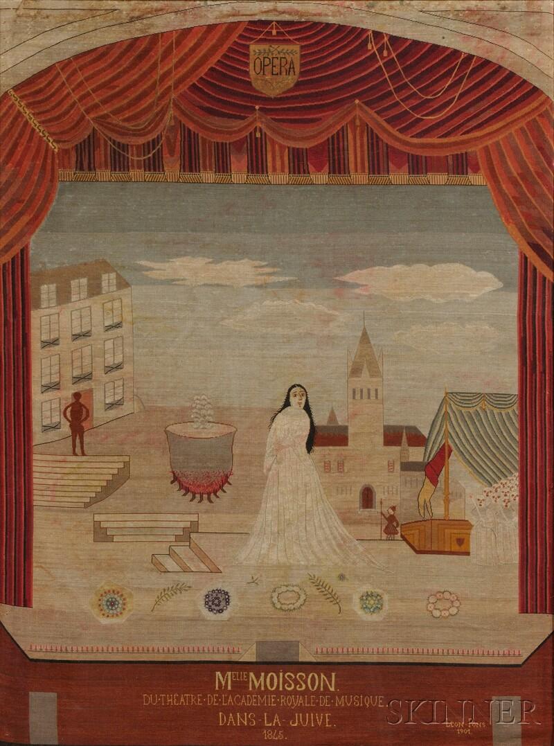 Four Framed French Needlework Panels