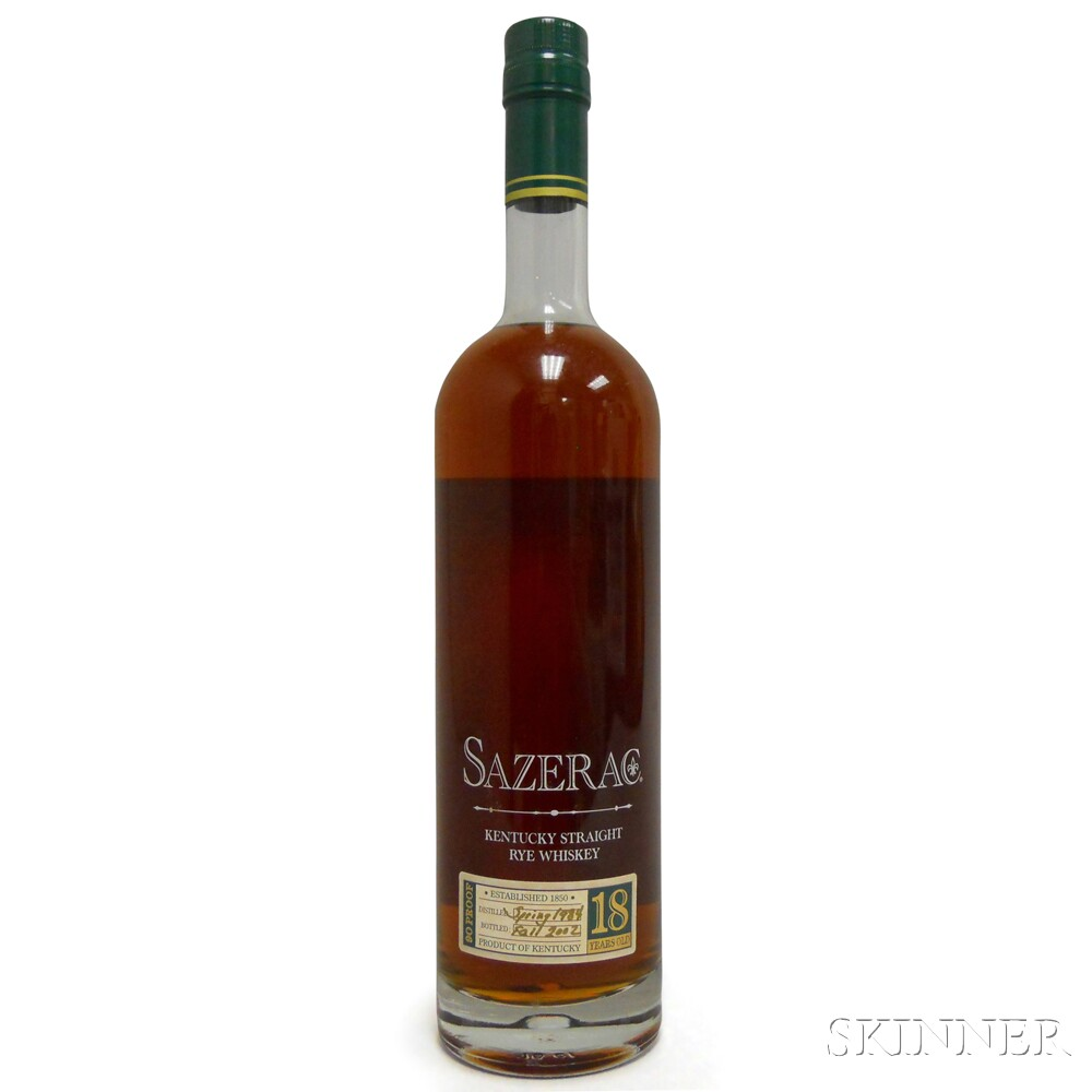 Buffalo Trace Antique Collection Sazerac Rye 18 Years Old 2002, 1 750ml bottle