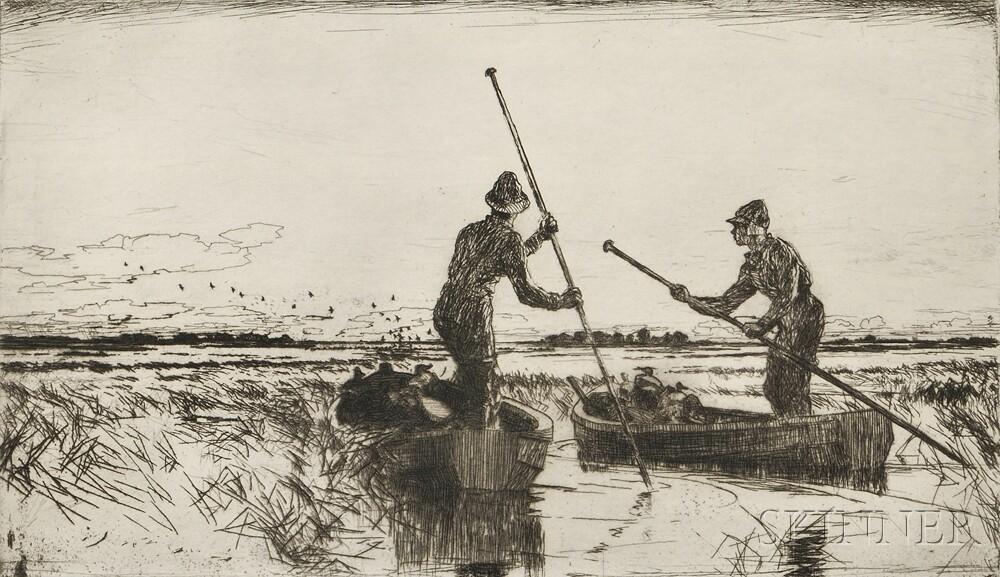 Frank Weston Benson (American, 1862-1951)      Two Gunners