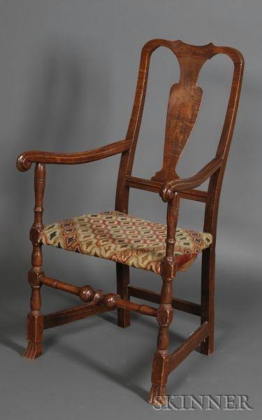 Queen Anne Maple Armchair