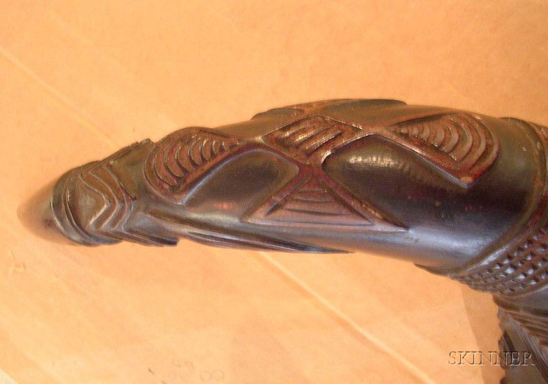 African Carved Horn Cup