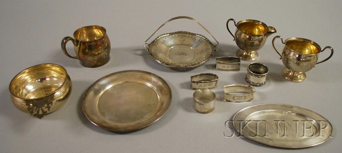 Group of Silver and Weighted Silver Serving Items