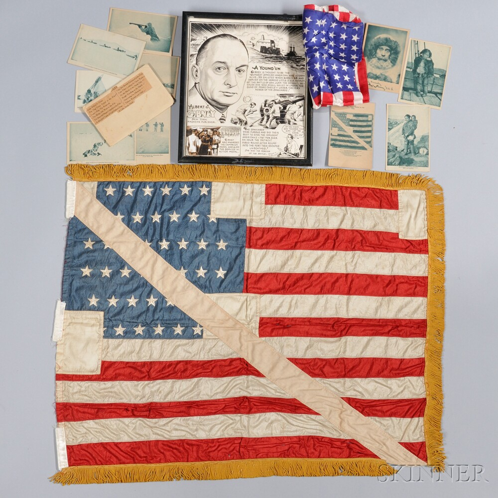 Admiral Peary Flag From The North Pole Expedition Sale