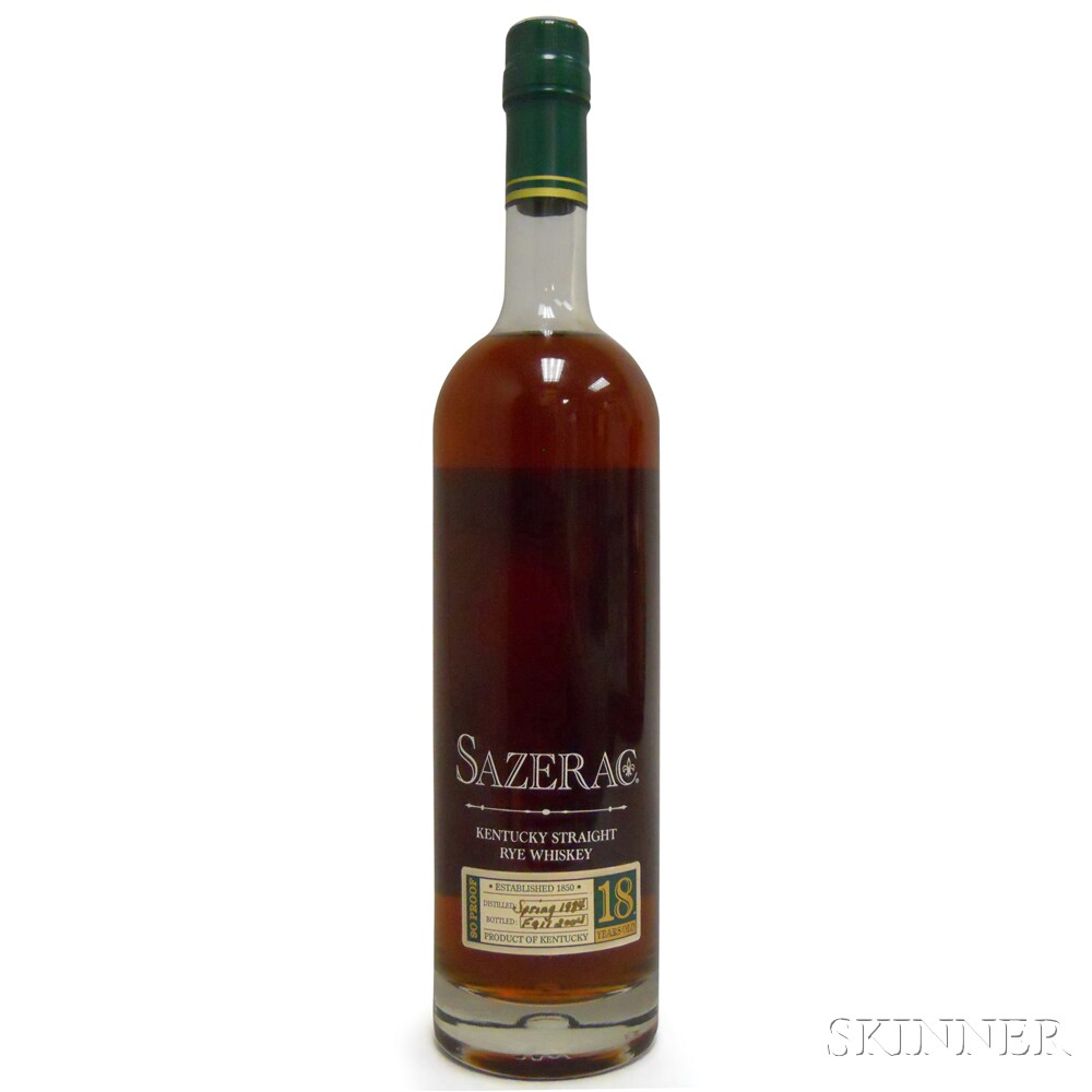 Buffalo Trace Antique Collection Sazerac Rye 18 Years Old 2004, 1 750ml bottle