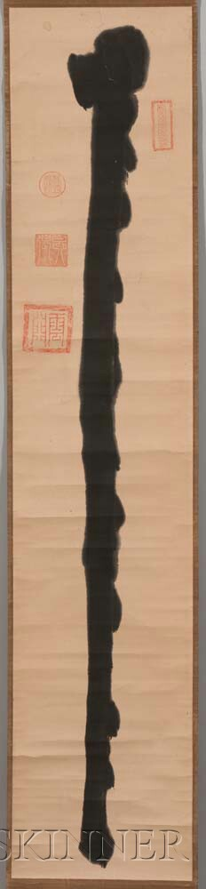 Hanging Scroll Depicting a Zen Staff