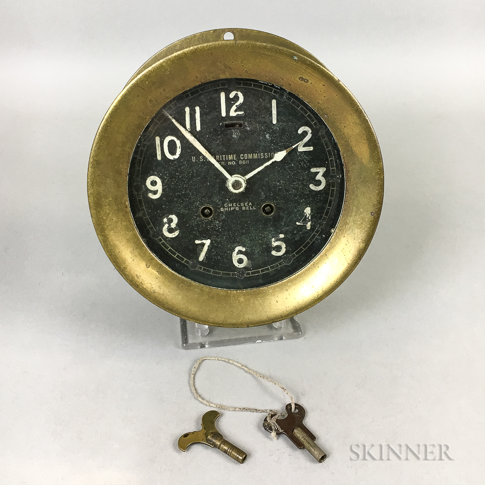 Chelsea Brass and Glass Ship's Bell Clock