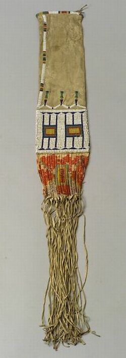 Central Plains Beaded and Quilled Hide Pipebag