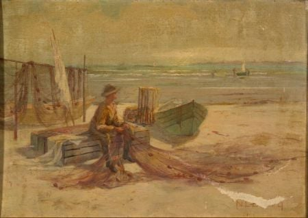 Nathanial Leander Berry (American, b. 1859)    Low Tide August Morning King's Beach, Swampscott