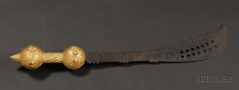 African Wood and Metal Ceremonial Sword