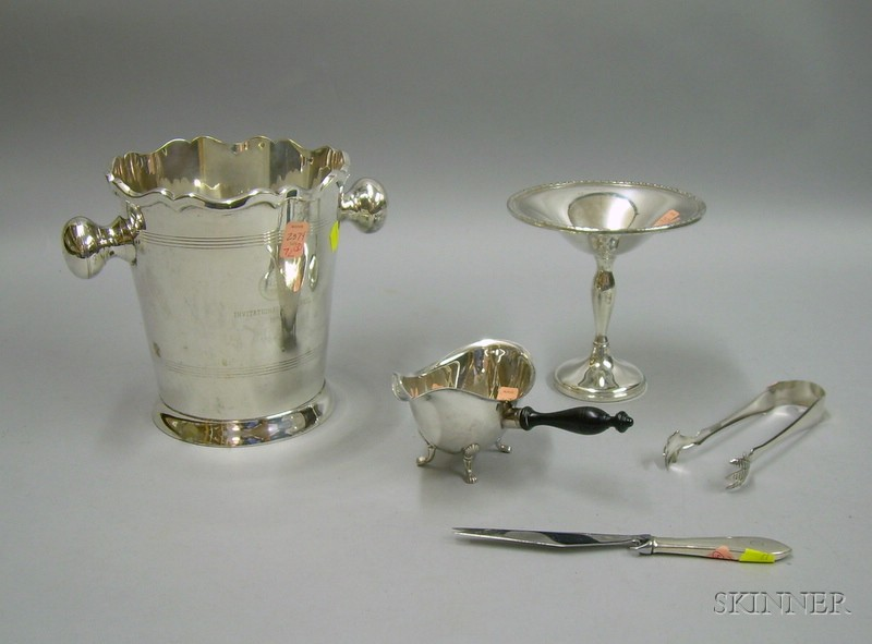 Five Silver Plated and Sterling Silver Tablewares