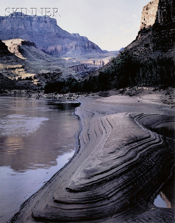 James Clinton Bones (American, b. 1943)      Eroding Sandbar, Grand Canyon of the Colorado River, Arizona