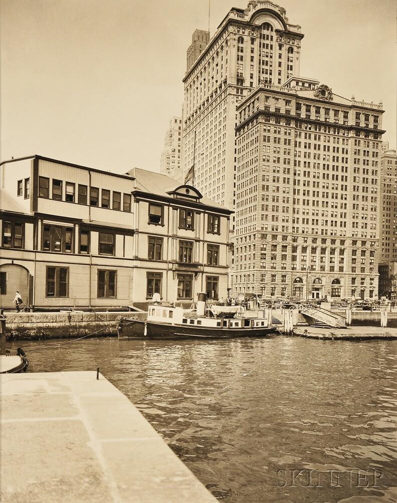 Berenice Abbott (American, 1898-1991)      Battery, Foot of West Street, Manhattan
