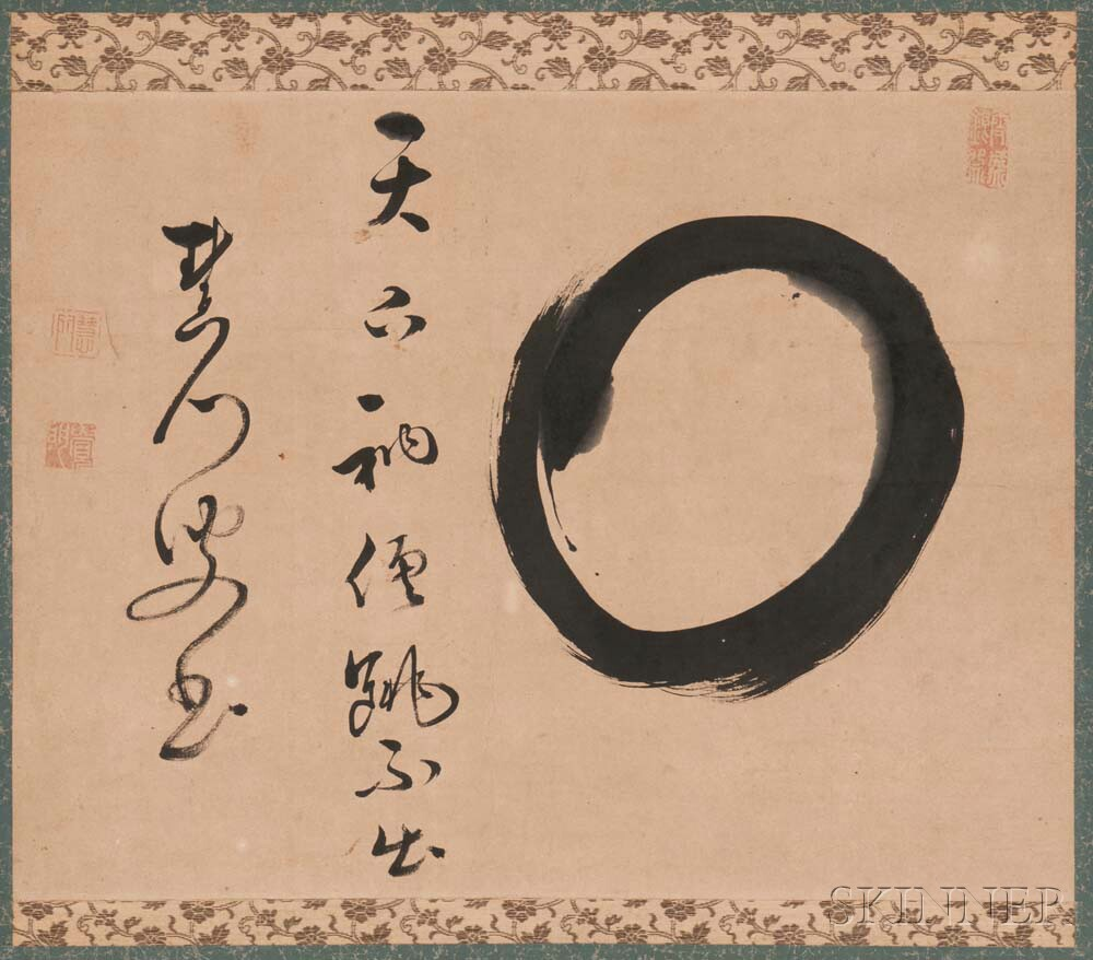 Hanging Scroll Depicting the Zen Circle, Enso