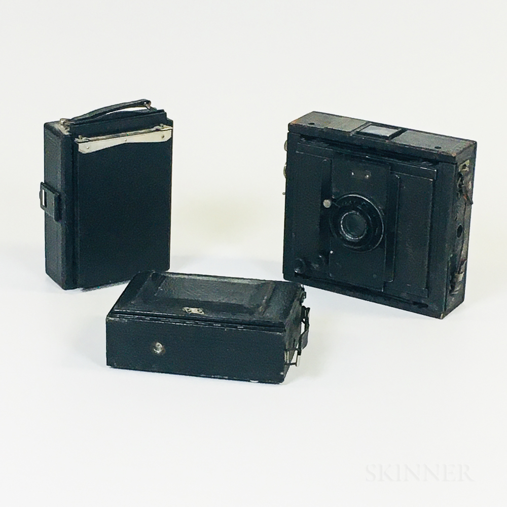 """C.P. Goerz """"Ango"""" 9 x 12 cm Camera and Two Other Cameras"""