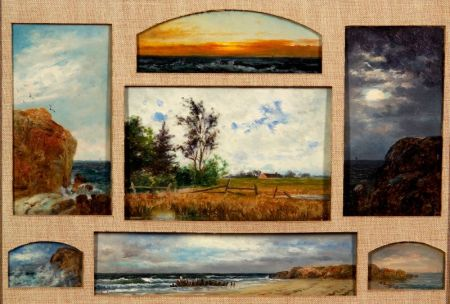 William Henry Hilliard (American, 1836-1905)    Views of Nantasket/Seven Views in a Single Composition