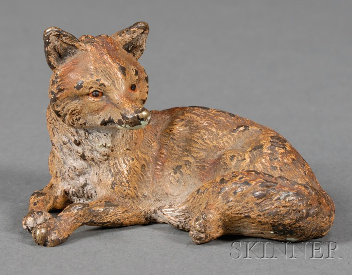Austrian Cold Painted Bronze Figure of a Fox