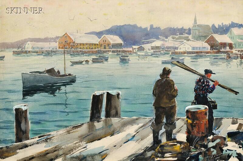 Carl Ivan Gilbert (American, 1882-1959)      Harbor in Winter