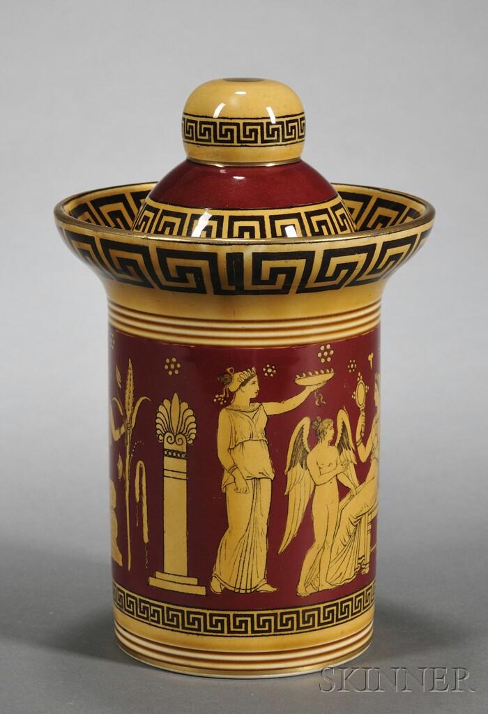 Royal Doulton Pottery Humidor and Cover
