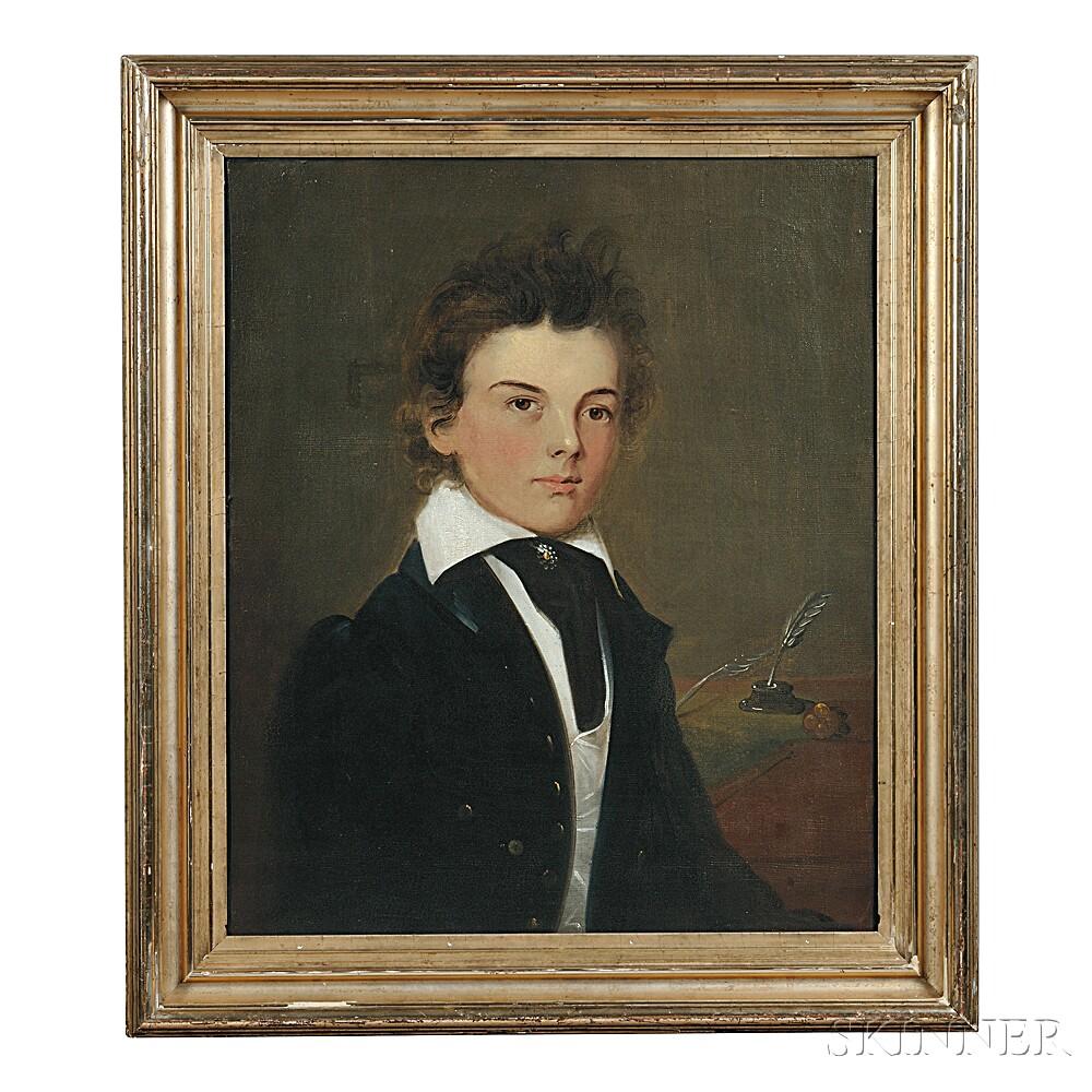 Attributed to William Matthew Prior (Massachusetts/Maine, 1806-1873)      Portrait of a Student.