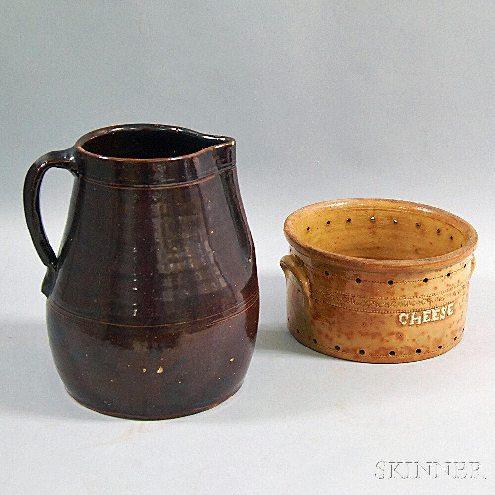 Two Redware Vessels