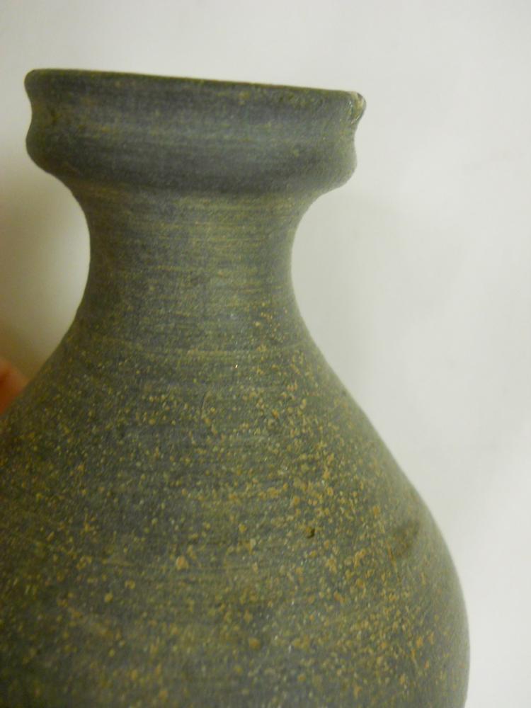 Three Stoneware Oil Bottles