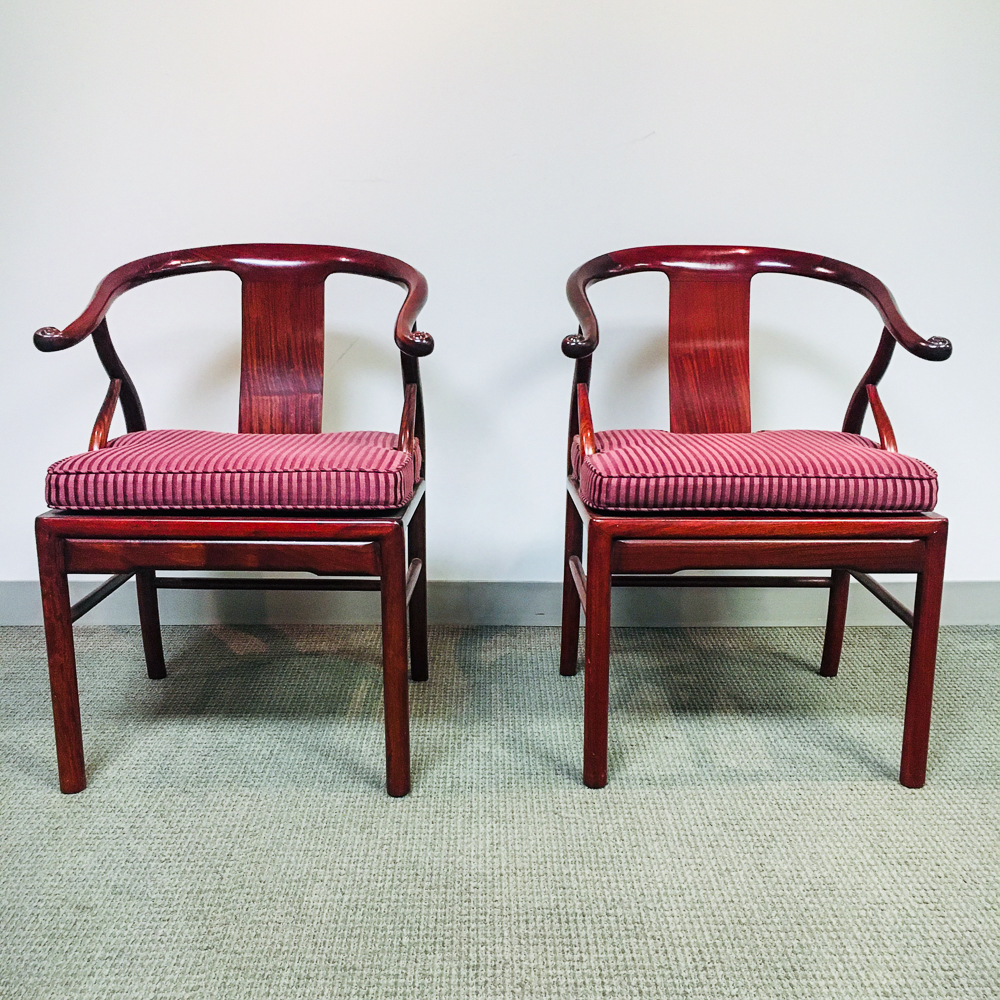Pair of Chinese-style Hardwood Armchairs
