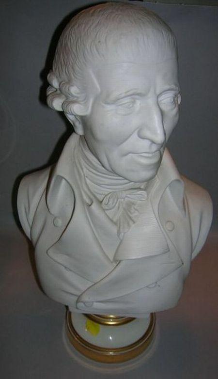 Austrian Bisque Portrait Bust of a Gentleman