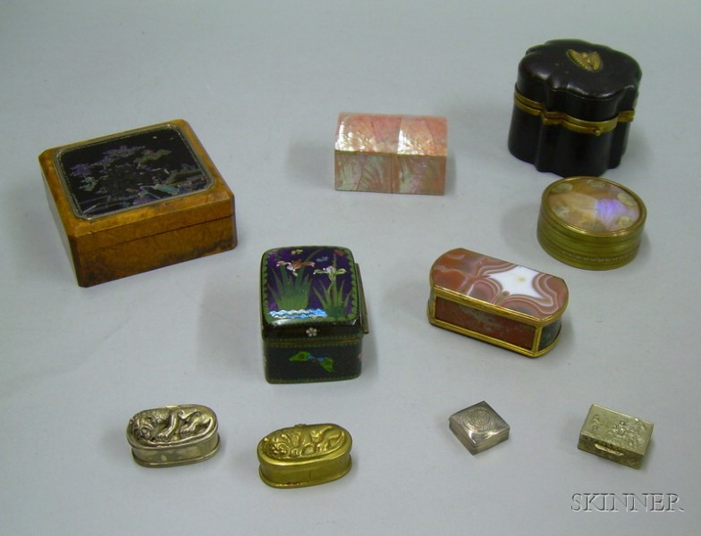 Lot of Ten Assorted 19th and 20th Century Boxes