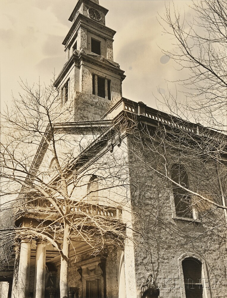 Berenice Abbott (American, 1898-1991)      St. Mark's Church, East 10th Street and Second Avenue, Manhattan