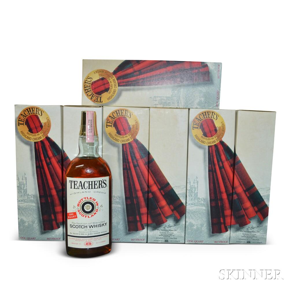 Teachers Highland Cream, 7 quart bottles (oc)