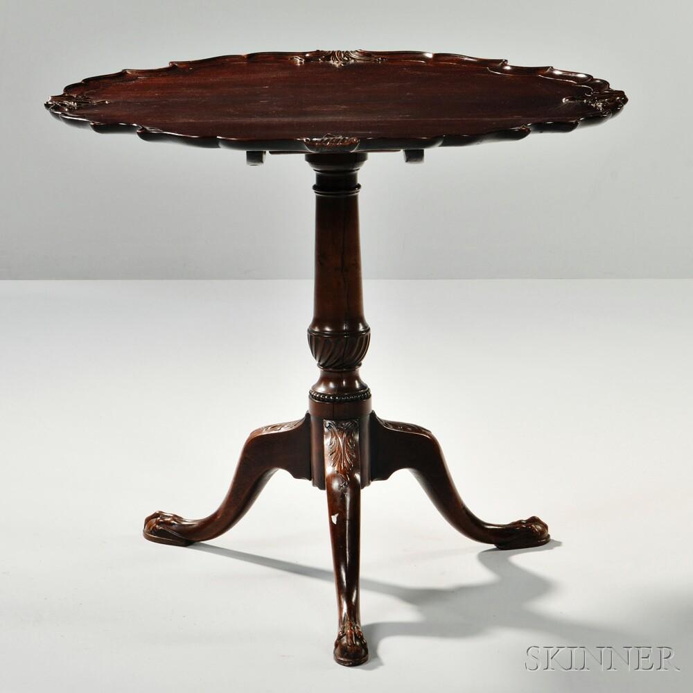 George III-style Mahogany Tilt-top Table