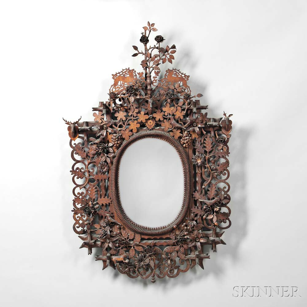 Folk Art Carved Mirror