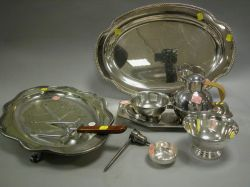 Seventeen Pieces of Silver Plated Tableware.