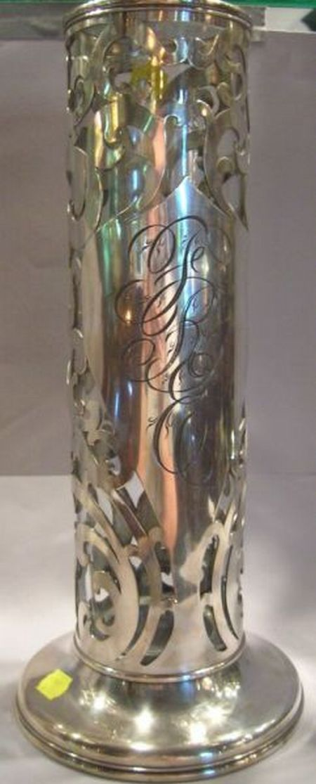 Meriden Silver Plated Reticulated Rose Vase