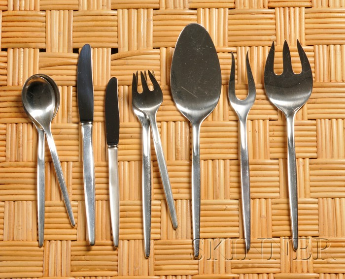Anton Michelson Flatware Service and Serving Pieces
