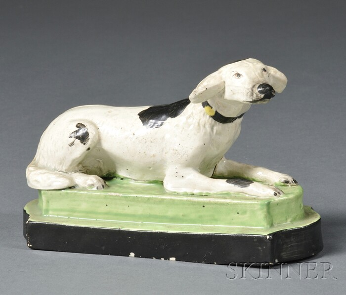 Staffordshire Pottery Figure of a Hound