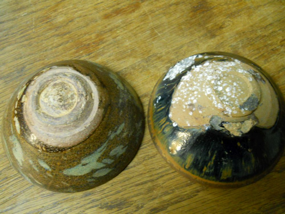 Eight Tenmouku Black-glazed Bowls