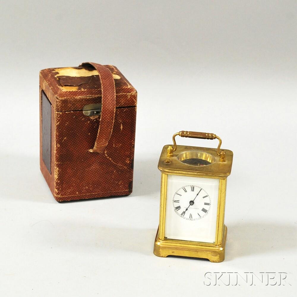 Waterbury Clock Co. Cased Carriage Clock