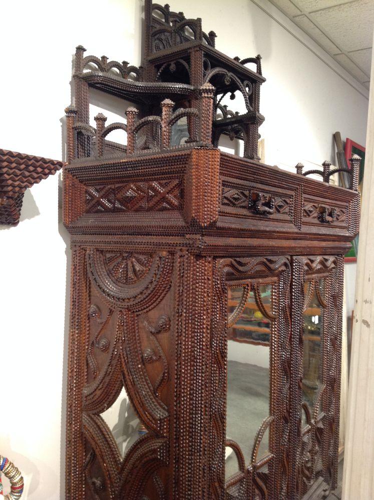 Tramp Art Cabinet Sale Number 2960t Lot Number 1003