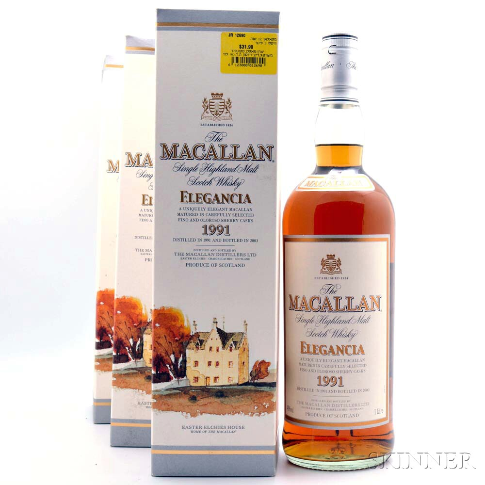 Macallan Elegencia 1991, 3 1-liter bottles (oc)