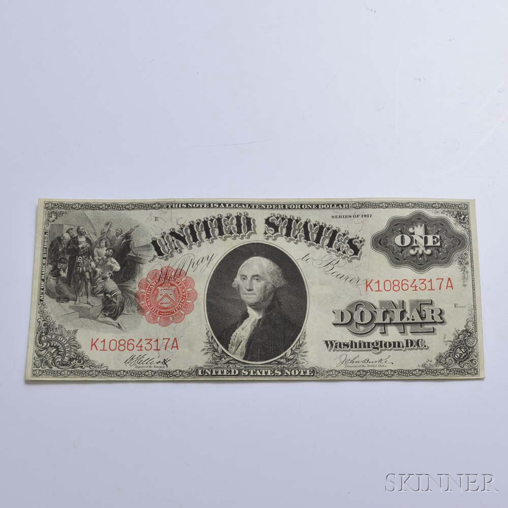 1917 $1 Legal Tender Note.     Estimate $100-200