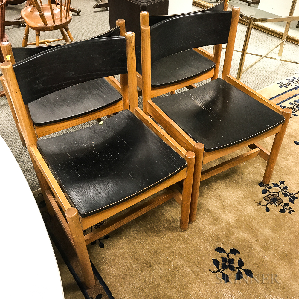 Four Contract Interiors Oak Side Chairs