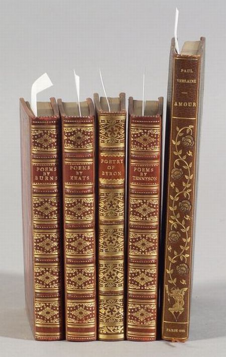 (Decorative Bindings, Sixteen titles in Twenty-one Volumes)