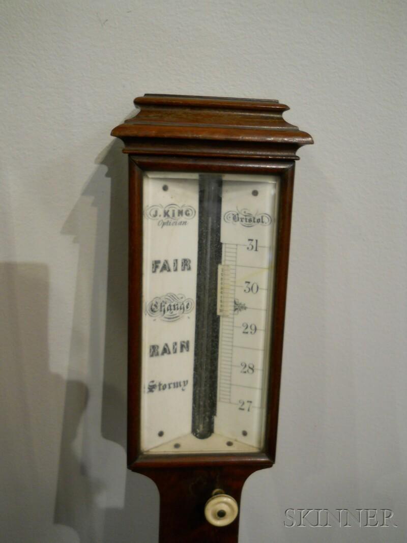 English Mahogany Stick Barometer