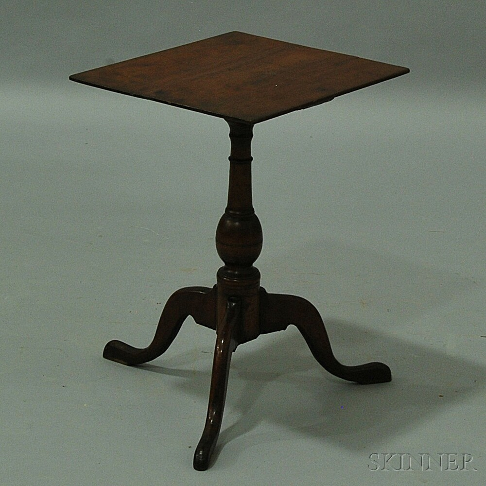 Queen Anne Cherry Rectangular-top Candlestand